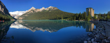 Lake Louise At Sunrise, Mountain Lake In Rocky Mountains, Banff National Park, Canada