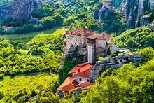 Monastery Of Roussanou At Mete...