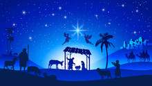 Christmas Nativity Scene With ...