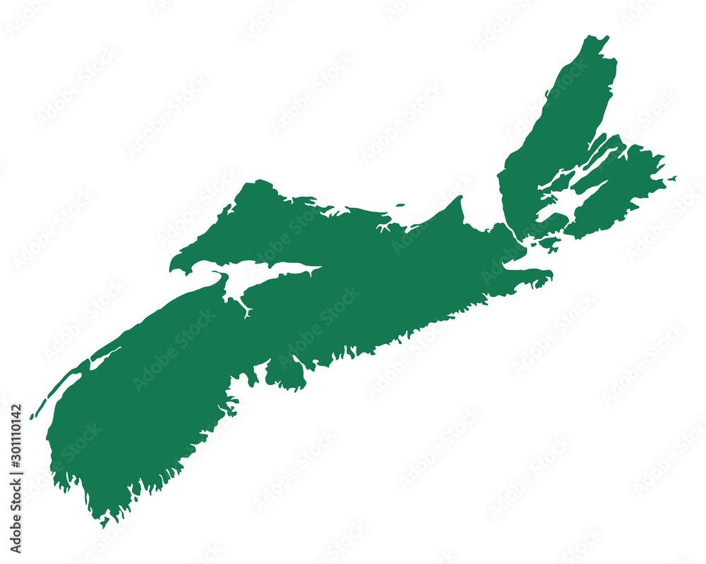 Fototapety, obrazy: Karte von Nova scotia