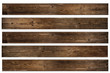 Set of isolated Walnut wood texture. Big Brown wood plank wall texture background.