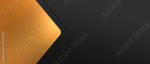 Abstract polygonal geometric banner with gold triangle shapes Fototapete