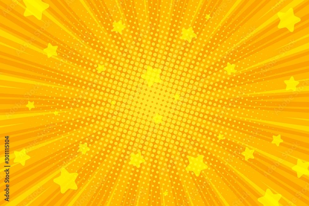 Fototapety, obrazy: Retro comic background, pop art Radial rays