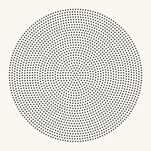 Halftone Radial Dotted Pattern