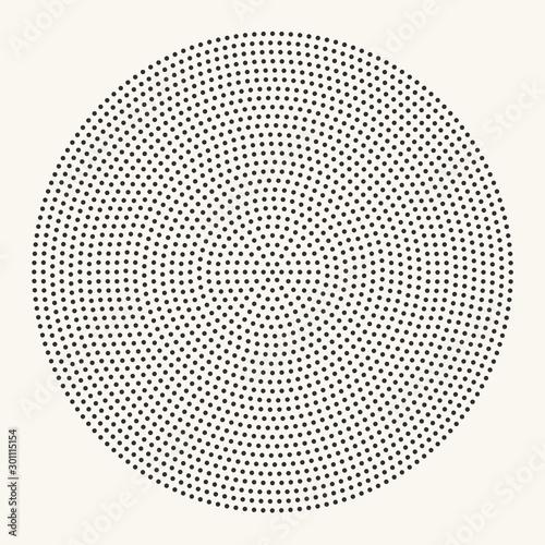 Valokuvatapetti Halftone radial dotted pattern