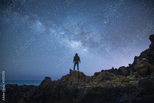 Fotografía  Bonito paisaje nocturno con buenos colores