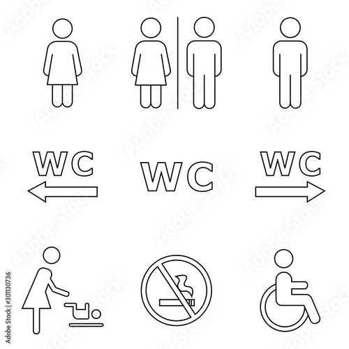 Fotografía  toilet icons set