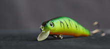 Fishing Lure Green Used Wobble...