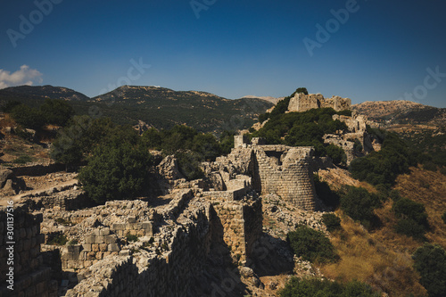 The Nimrod Fortress or Nimrod Castle is a medieval Ayyubid castle situated on the southern slopes of Mount Hermon, on a ridge rising about 800 m above sea level Wallpaper Mural