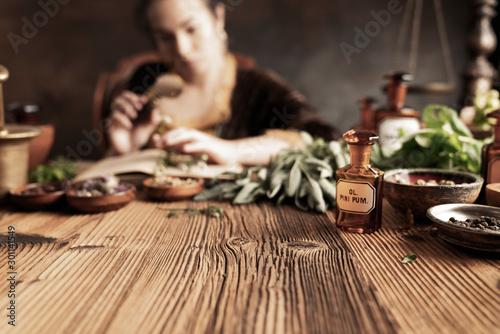 Photo  Natural medicine concept
