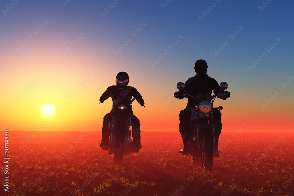Fototapety, obrazy: Motorcyclist