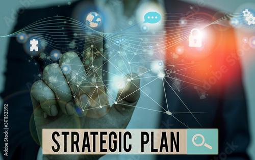 Fotomural Word writing text Strategic Plan