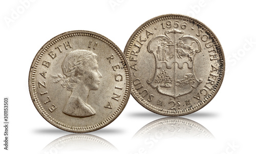 South africa two shillings 1956 Canvas-taulu