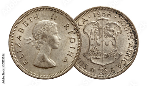 South africa two shillings 1956 Canvas Print