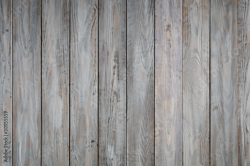 Blue wooden background with old painted boards Fotobehang