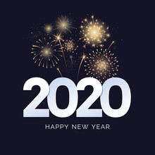 Happy New Year 2020 Greeting C...