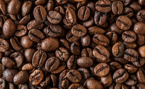 Fotografía roasted coffee beans, can be used as a background