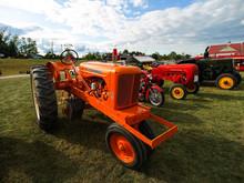 Exhibition Of Antique Tractors. Tractor Show
