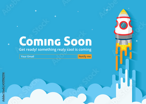 Coming soon website template Canvas Print