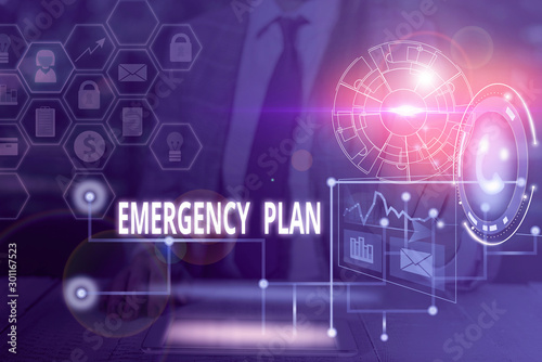 Cuadros en Lienzo Handwriting text writing Emergency Plan