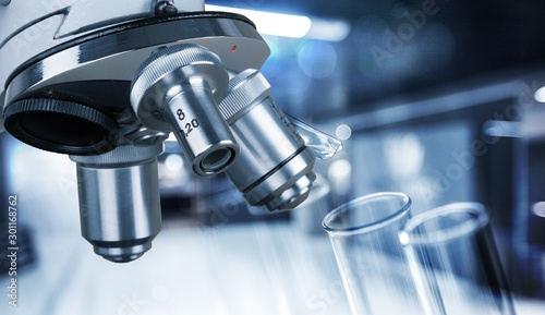 Research laboratory healthcare and medicine microscope