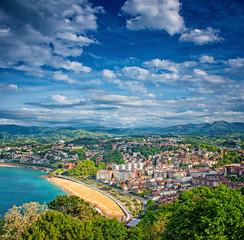 View on the beach of San Sebastian, Spain