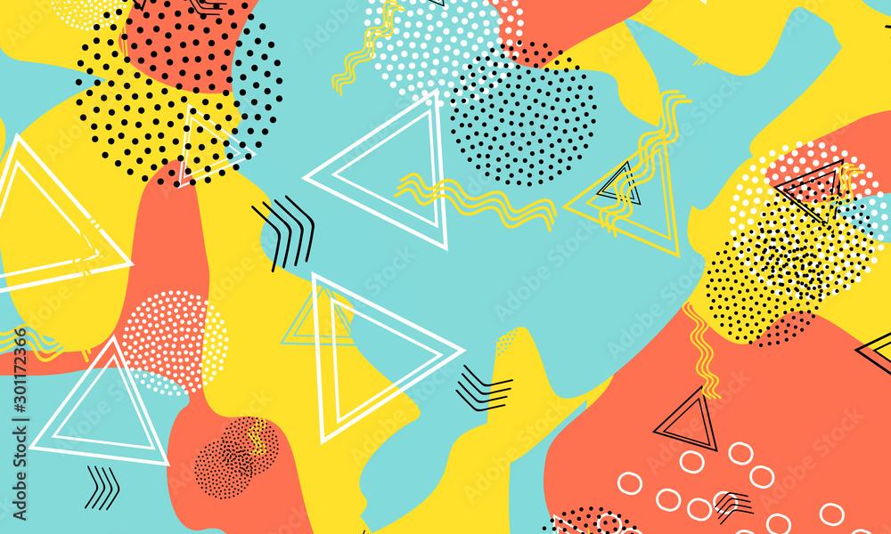 Fototapeta Dot Terracotta Art. Mustard Geometric Template.