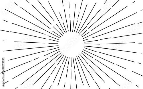 light ray Hand Drawn. vector illustration Canvas Print
