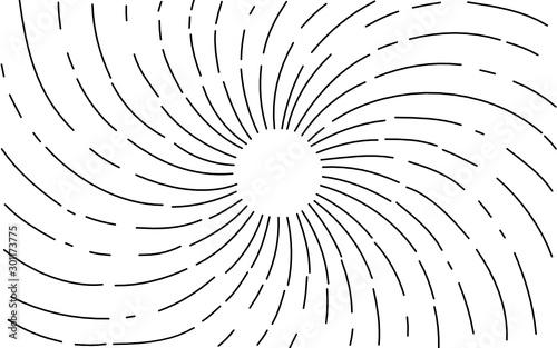 Photo light ray Hand Drawn. vector illustration