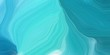 curved lines background or backdrop with medium turquoise, dark cyan and sky blue colors. dreamy digital abstract art