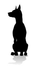 A Detailed Animal Silhouette O...