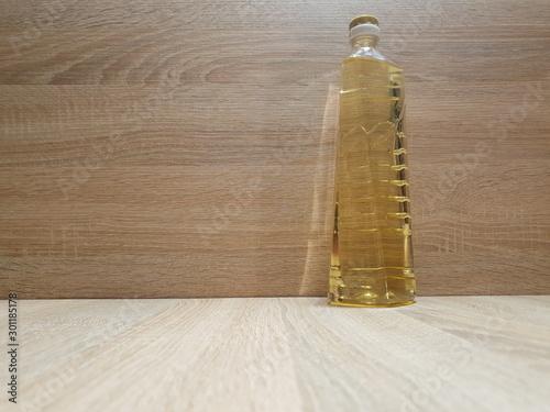 Fototapeta A bottle of sunflower oil. Natural high-quality sunflower oil. obraz