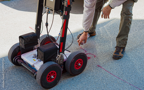 Cuadros en Lienzo The GPR is a noninvasive method used in geophysics
