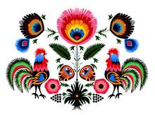 Colorful Traditional Polish Fo...