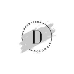 Fototapeta na wymiar Initial letter D beauty fashion, make up logo