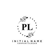 Letter PL Beauty Logo Template...