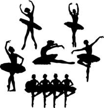 Ballet Silhouette Eps Vector I...