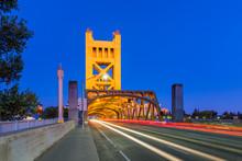 Tower Bridge In Sacramento, Ca...
