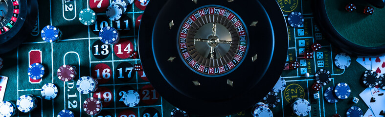 Casino background, poker Ch...