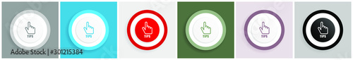 Fotomural  Tips icon set, colorful flat design vector illustrations in 6 options for web de