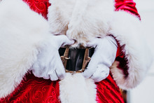 Santa Claus Hands In Belt