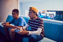 Teenage Friends Playing Video ...