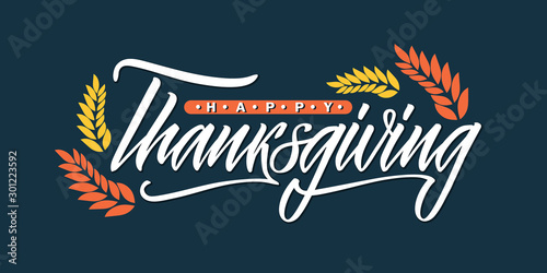 Fototapeta  Happy Thanksgiving lettering