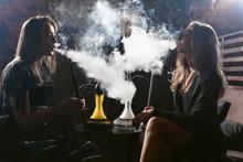 Girls Party In Hookah Lounge. ...