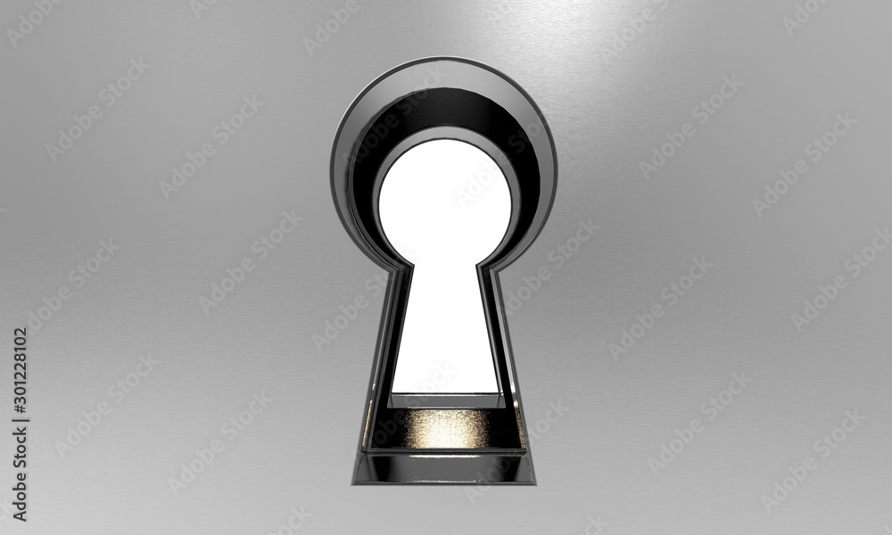 Fototapety, obrazy: 3D illustration of a keyhole