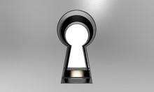 3D Illustration Of A Keyhole