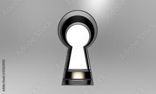 Fotografía 3D illustration of a keyhole