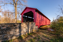 Utica Covered Bridge In Maryland