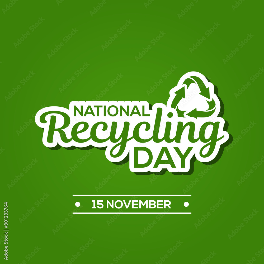 Fototapety, obrazy: National Recycling Day Vector Design Template