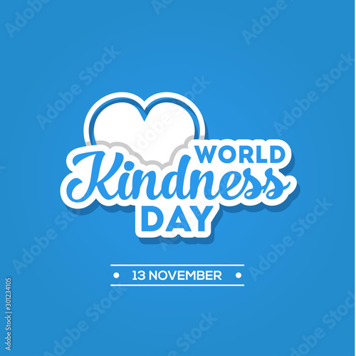 Canvas Prints Positive Typography World Kindness Day Vector Design Template